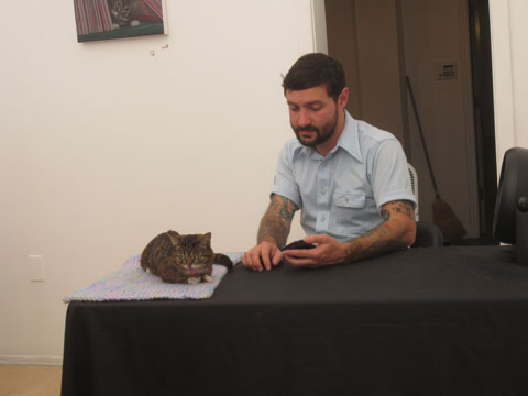 Bub and owner Mike Bridavsky