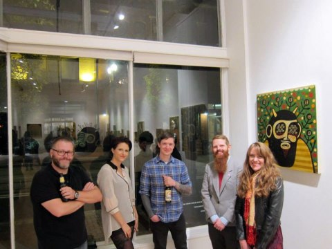 Denise, Mike Egan, Neil and Susanna from Antler, photo by Breeze Block Gallery