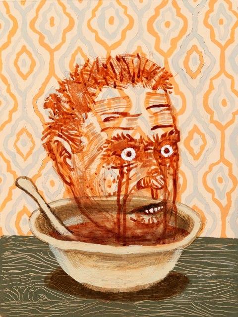 """Ghost Soup"" | Acrylic on Panel | 12 x 16"" | 2014"